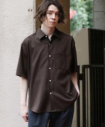JUNRed(ジュンレッド)のTRヘリンボンストライプシャツ(シャツ/ブラウス)