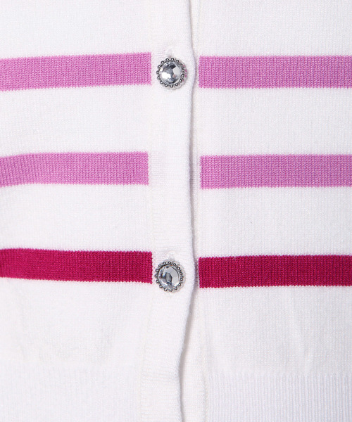 カラーボーダー刺繍アンサンブル