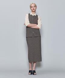 <6(ROKU)>BLOCK JACQUARD TIGHT SKIRT/スカート