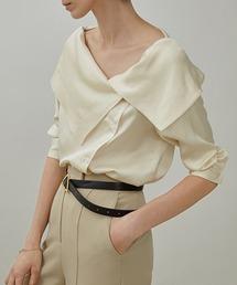 【UNSPOKEN】Big lapel blouse UX20S649chwアイボリー