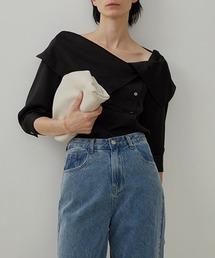 【UNSPOKEN】Big lapel blouse UX20S649chwブラック