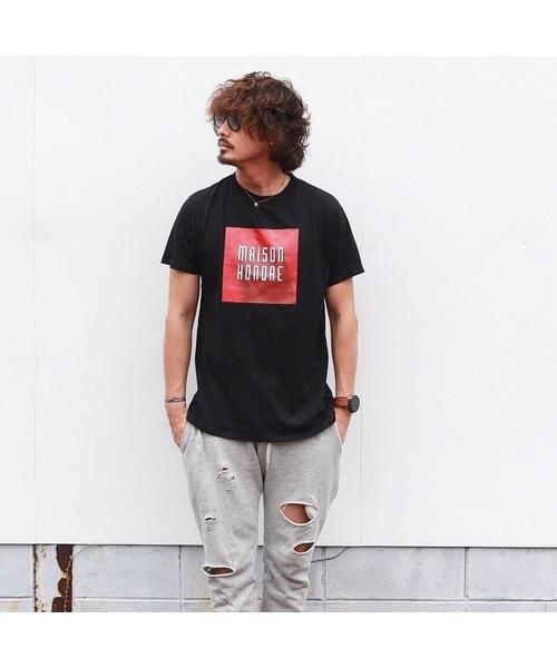 MAISON HONORE(メゾンオノレ)の「Tee-shirt homme Romuald(Tシャツ/カットソー)」|ブラック