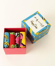 【WEB限定】[ハッピーソックス]Happy Socks Andy Warhol BOX ソックス / 4足セット