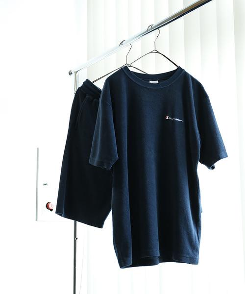 Champion×FREAK'S STORE/チャンピオン NEWパイルセットアップ(Tシャツ&ショーツ)