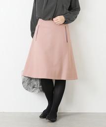 La TOTALITE(ラトータリテ)のカラー ウール台形スカート(スカート)