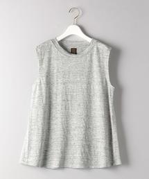 <BATONER(バトナー)>リネン ノースリーブ Tシャツ