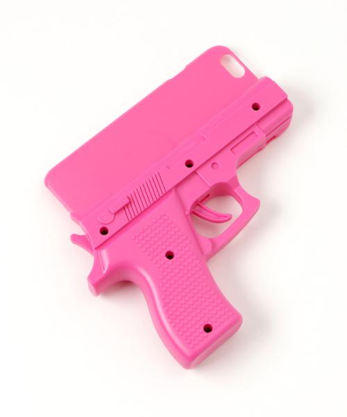 WEGO(ウィゴー)の「WEGO/ピストルiPhone6ケース(モバイルケース/カバー)」 ピンク