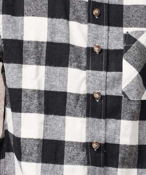 ネルチェックレギュラーカラーシャツ(IR)