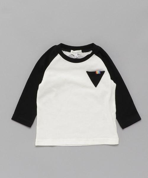 earth music&ecology Rainbow Label 長袖Tシャツ