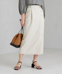 ◆SC ヘリンボン タック ロング スカート