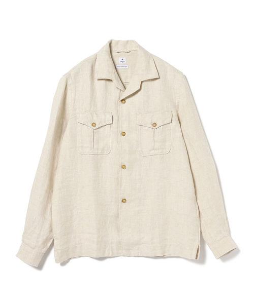 DANOLIS / リネン オープンカラーシャツジャケット