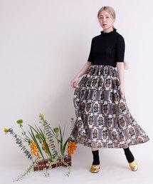 peu pres(プープレ)のひまわりオパールプリント スカート(スカート)