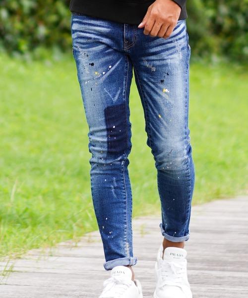 【人気急上昇】 【adamsJUGGLER】ペイントデニムパンツ(デニムパンツ)|RetoroEngine(レトロエンジン)のファッション通販, おべべほほほ:2e5e71c5 --- 888tattoo.eu.org
