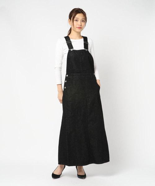 styles(スタイルス)の「CM Salopette Skirt CMA-1(スカート)」|ブラック