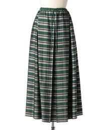 Drawer ラメチェックギャザースカート