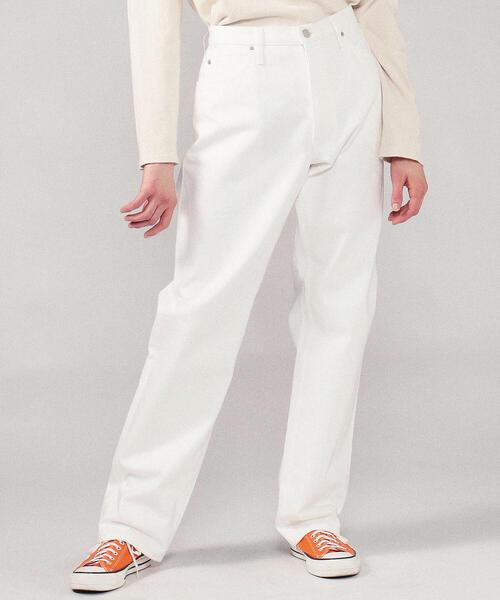 ホワイトデニム 5ポケットパンツ