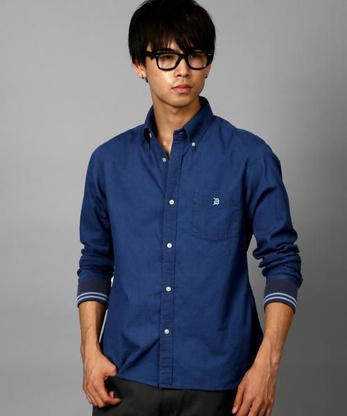 高級感 【セール】INDIGO DOBBY RIB CUFFS SHIRT:ライン入りリブ袖 of インディゴドビーシャツ(シャツ セール,SALE,The/ブラウス) DOBBY The DUFFER of ST.GEORGE(ザダファーオブセントジョージ)のファッション通販, fuwalu -フワル-:37dfe24b --- fahrservice-fischer.de