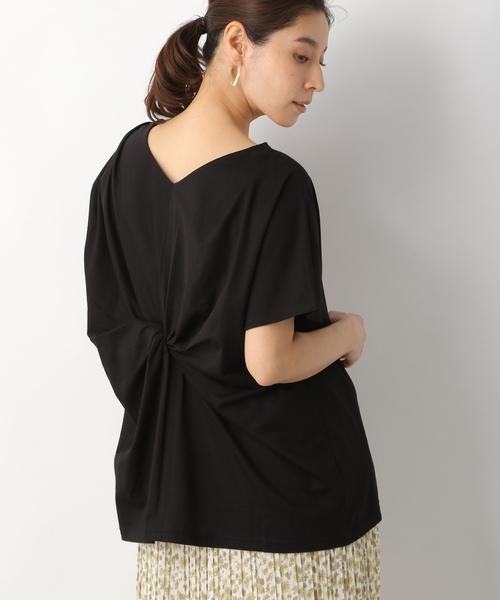LEPSIM(レプシィム)の「ツイストデザインプルオーバーSS 835860(Tシャツ/カットソー)」|ブラック