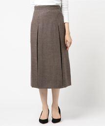 INED(イネド)のボックスタックチェック柄スカート(スカート)