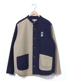 MEI(メイ)別注キャンバススナップボタンバンドカラーシャツ(その他⇒WEB限定カラー)