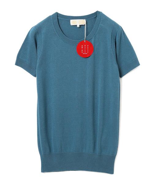 "B:MING by BEAMS(ビーミングバイビームス)の「B:MING by BEAMS / ""BBB"" ハイゲージ クルーネック 半袖Tシャツ(ニット/セーター)」|ブルー系その他"