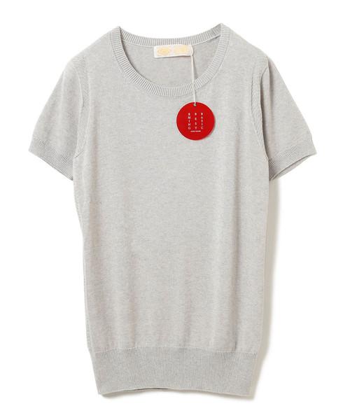 "B:MING by BEAMS(ビーミングバイビームス)の「B:MING by BEAMS / ""BBB"" ハイゲージ クルーネック 半袖Tシャツ(ニット/セーター)」|ライトグレー"