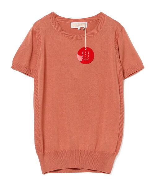 "B:MING by BEAMS(ビーミングバイビームス)の「B:MING by BEAMS / ""BBB"" ハイゲージ クルーネック 半袖Tシャツ(ニット/セーター)」|オレンジ系その他4"