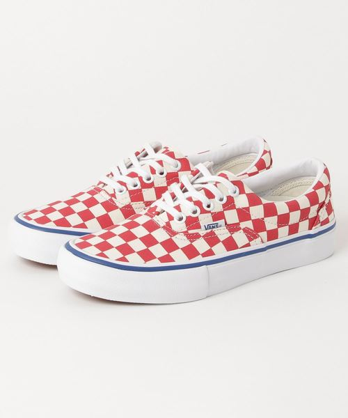 VANS ヴァンズ ERA PRO エラプロ VN000VFBQ2Z (CHECKERBOARD) ROCOCCO RED/CLASSIC WHITE