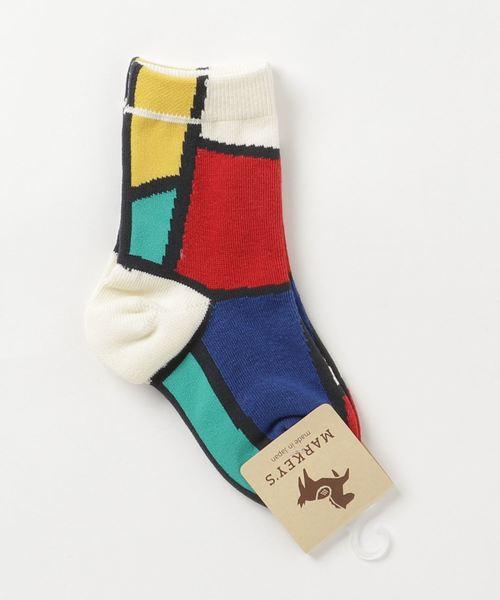 MARKEY'S(マーキーズ)の「パレット ソックス(9-13・14-18cm)(ソックス/靴下)」 オフホワイト