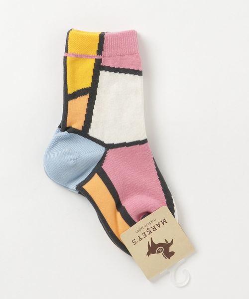 MARKEY'S(マーキーズ)の「パレット ソックス(9-13・14-18cm)(ソックス/靴下)」|ピンク