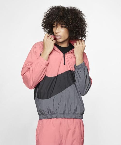 NIKE(ナイキ)の「ナイキ スポーツウェア ウーブン ジャケット《セットアップ対応商品》(ブルゾン)」|ピンク