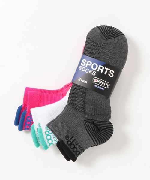 スポーツ靴下(ソックス) 3足組 ブランドロゴ