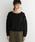 haco!(ハコ)の「pilvee ぽんわり袖のガーリーフリルニット(ニット/セーター)」|ブラック