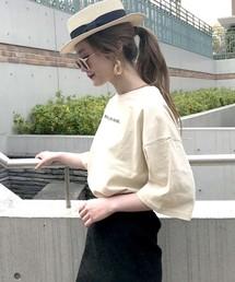 archives e'pice(アルシーヴ エピス)の【限定item!!】ロゴ刺繍ビッグTシャツ(Tシャツ/カットソー)