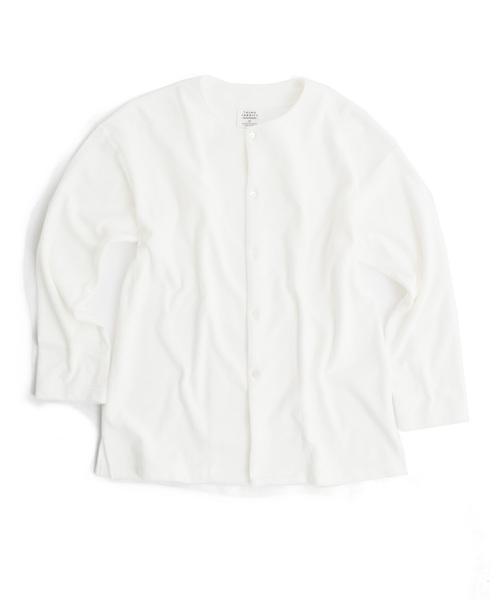 tHING FABRICS/シングファブリックス TF No collar relax shirt