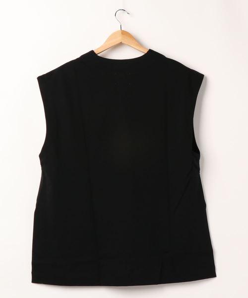 MIDIUMISOLID(ミディウミソリッド)の「Vネックワイドベスト(Tシャツ/カットソー)」 詳細画像