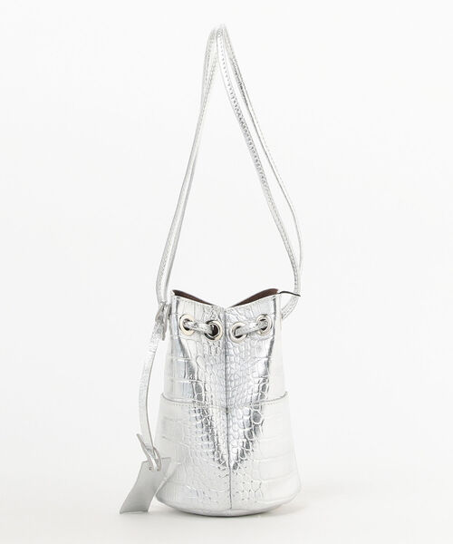 Demi-Luxe BEAMS(デミルクス ビームス)の「MARCO MASI / メタリック 型押し ミニバケツバッグ(ショルダーバッグ)」|詳細画像