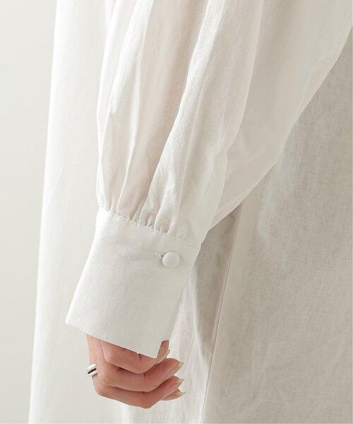 frames RAY CASSIN(フレームスレイカズン)の「綿ローンレース使いシャツワンピース(ワンピース)」|詳細画像