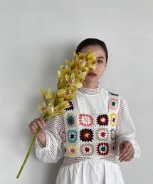 【SANSeLF】crochet knit bustier sanw66マルチ