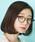 Atelier mimi(アトリエ ミミ)の「コンビネーションフレームメガネ 眼鏡 伊達眼鏡 だてメガネボストンメガネ(メガネ)」|詳細画像