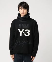 【PULP】Y-3 / ワイスリー U KNITTED STACKED LOGO HOODIE(ニット/セーター)