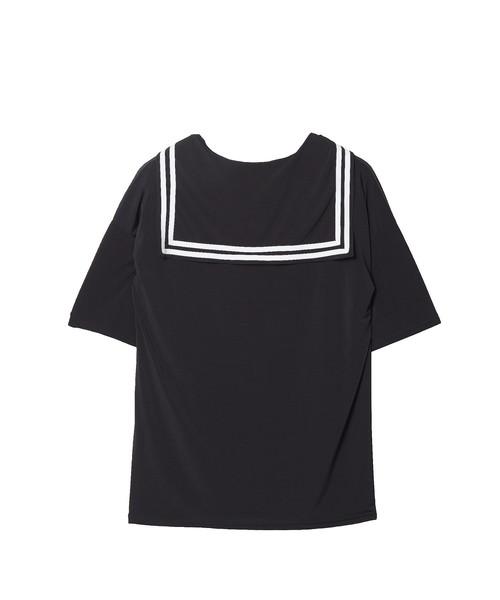 退廃テディベアラインセーラーTシャツ -メガビッグ-