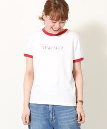 リサイクルコットンリンガーロゴTシャツ
