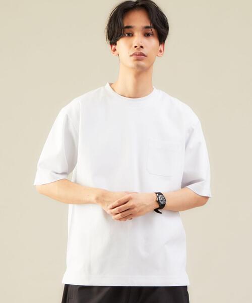 < 機能性 / 抗菌 >CM Clean オーガニック ポンチ クルーネック カットソー Tシャツ