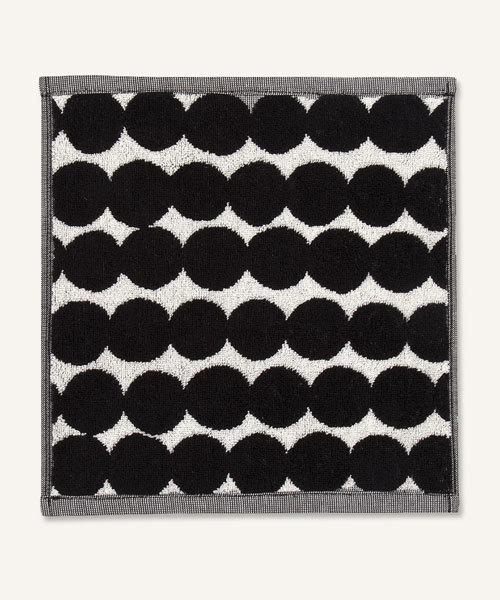 marimekko(マリメッコ)の「RASYMATTO /MINI TOWEL 30X30cm(ハンカチ/ハンドタオル)」 ブラック