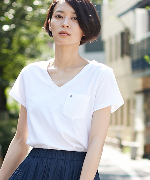 CONVERSE TOKYO/コンバーストウキョウ VネックポケットTシャツ