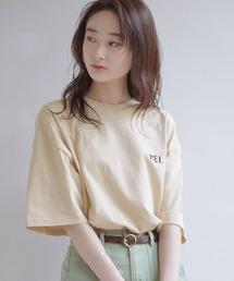 MEI/メイ MONO-MART別注 オーバーサイズ半袖Tシャツベージュ