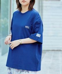 MEI/メイ MONO-MART別注 オーバーサイズ半袖Tシャツネイビー