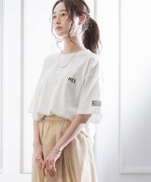 MEI/メイ MONO-MART別注 オーバーサイズ半袖Tシャツホワイト