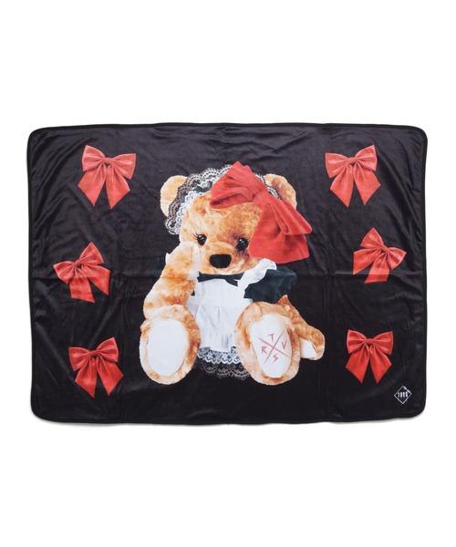Ribbon bear Blanket/クマプリントブランケット